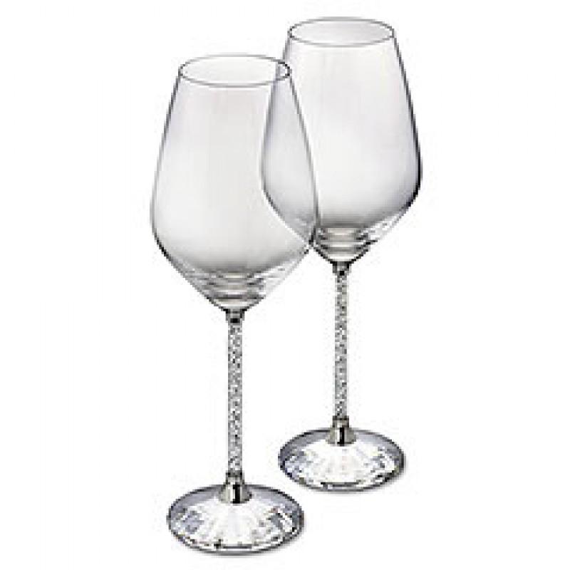 dbf41da4cc03 Crystalline white wine glasses by Swarovski