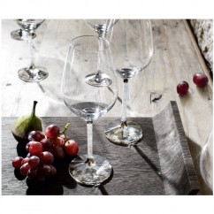 Crystalline white wine glasses by Swarovski